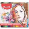 """MAPED Akvarell ceruza készlet, ecsettel, fém doboz,  """"Artists"""", 24 különböző szín"""