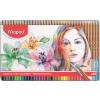 """MAPED Akvarell ceruza készlet, ecsettel, fém doboz,  """"Artists"""", 36 különböző szín"""