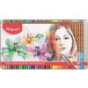 """MAPED Akvarell ceruza készlet, ecsettel, fém doboz, MAPED """"Artists"""", 72 különböző szín"""