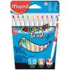 MAPED Filctoll, ecset,  Color Peps Brush, 10 különböző szín