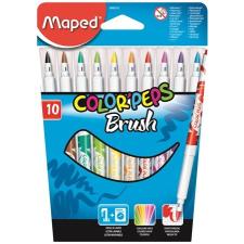 MAPED Filctoll, ecset,  Color Peps Brush, 10 különböző szín filctoll, marker