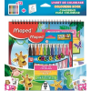"MAPED Filctoll készlet, 2,8 mm, kimosható, MAPED ""Color`Peps Jungle"", 12 szín +  kifestőkönyv"