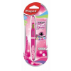 MAPED Golyóstoll, 0,5 mm, kétvégű, rózsaszín tolltest, MAPED Twin Tip, 4 vidám szín