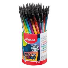 """MAPED Grafitceruza radírral, ceruzatartó, HB, háromszögletű, MAPED """"Black'Peps Energy"""", 6 különböző minta ceruza"""