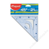MAPED Háromszög vonalzó, műanyag, 45°, 21 cm, MAPED Graphic (IMA242421)