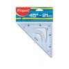 "MAPED Háromszög vonalzó, műanyag, 45°, 21 cm, MAPED ""Gr"