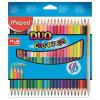 """MAPED Színes ceruza készlet, háromszögletű, kétvégű, MAPED """"Color\´Peps Duo"""", 48 különböző szín"""