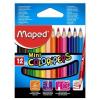 """MAPED Színes ceruza készlet, háromszögletű, MAPED """"Color'Peps Mini"""", 12 különböző szín (IMA832500)"""