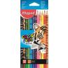 """MAPED Színes ceruza készlet, háromszögletű, MAPED """"Color\´Peps Animal"""", 12 különböző szín"""
