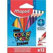 """MAPED Színes ceruza készlet, háromszögletű, MAPED """"Mini Color'Peps Strong"""", 12 különböző szín színes ceruza"""