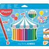 """MAPED Színes ceruza készlet, háromszögletű, vastag,  """"Jumbo"""", 24 különböző szín"""