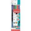 """MAPED Tűfilc készlet, 0,4 mm,  """"Graph`Peps Premium"""", 4 különböző hagyományos szín"""