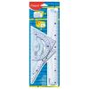 MAPED Vonalzókészlet, műanyag, 4 darabos, MAPED