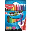 """MAPED Zsírkréta,  """"Color`Peps"""" PlastiClean, 12 különböző szín"""