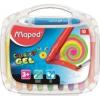 """MAPED Zsírkréta, kitekerhető, MAPED \""""Color`Peps GEL\"""", 10 különböző szín [10 db]"""