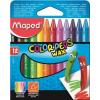 """MAPED Zsírkréta, MAPED """"Color'Peps Wax"""", 12 különböző szín"""