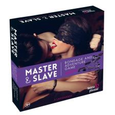 Master & Slave  - kötözős játék szett (lila-fekete) társasjáték