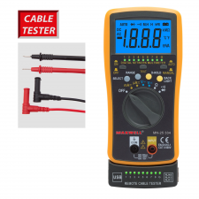 MAXWELL Digitális multiméter,automata, kábel teszterrel mérőműszer