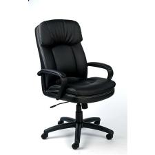 """MAYAH Főnöki szék, hintamechanikával, fekete bonded bőrborítás, fekete lábkereszt, MAYAH """"Duke"""" forgószék"""