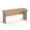 MAYAH Íróasztal, íves, balos, laplábbal, 160x80 cm, MAYAH Freedom SV-24, kőris (IBXA24K)