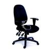 """MAYAH Irodai szék, állítható karfás, exkluzív fekete szövetborítás, fekete lábkereszt, MAYAH """"Energetic"""""""