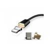Mcdodo 3 az egyben mágneses töltő USB kábel lightning / micro USB / USB-C Apple készülékekhez - fekete