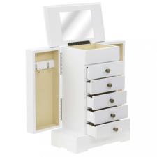 MDF ékszertartó doboz tükörrel 25 x 13,5 x 34 cm tisztító- és takarítószer, higiénia
