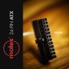 MDPC-X 24-Pin ATX Molex csatlakozó - Fekete (CO-ATX-M)
