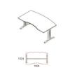 Megrendeléstől számított kb. 2 hét VA-180/100-LUX vezetői asztal (180 x 100 cm-es íves íróasztal LUX fémlábbal)
