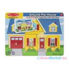 Melissa & Doug - Hangos Puzzle - A Ház Körül készségfejlesztő
