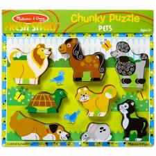 Melissa and Doug : állatos könnyen megfogható puzzle puzzle, kirakós