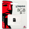 Memória kártya, Kingston 8GB microSDHC Class 4, SD adapter nélkül (artisjus matricával ellátva)