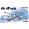 Meng-Modell MENG-Model Fiat G.91R NATO Air Forces katonai repülő makett DS-004s
