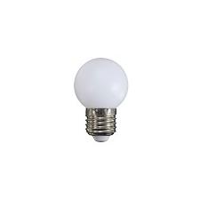 Mentavill E27 LED lámpa színes (1W/200°) Kisgömb - fehér izzó