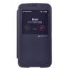 Mercury Goospery Mercury Easy View Samsung N7100 Galaxy Note 2 oldalra nyitható ablakos tok sötétkék