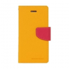 Mercury Goospery Mercury Fancy Diary Sony D5803 Xperia Z3 compact kinyitható tok sárga-sötétpink
