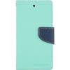 Mercury Goospery Mercury Fancy Diary Sony E5803 Xperia Z5 compact kinyitható tok menta-kék