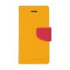 Mercury Goospery Mercury Fancy Diary Sony E6533 Xperia Z4 kinyitható tok sárga-sötétpink