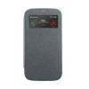 Mercury Goospery Mercury Wow Bumper Samsung A700 Galaxy A7 ablakos kinyitható tok szürke