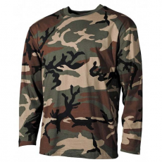 MFH hosszú ujjú trikó woodland minta, 160g/m2