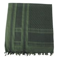 MFH PLO pamut arafat kendő fekete - oliva, 115 x 110cm