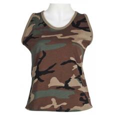 MFH US női trikó woodland mintával