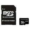 Micro SD CARD 32GB SILICON POWER + SD adapter CL4