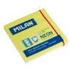 MILAN Öntapadó jegyzettömb MILAN, 75x75 mm, 80 lapos, neon sárga színű