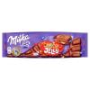 Milka Choco Jelly tejcsokoládé meggyízű zselédarabkákkal, cukordrazséval és robbanócukorkával 250 g