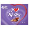 Milka I Love Milka alpesi tejcsokoládé praliné mandulás töltelékkel és mogyoró darabokkal 110 g
