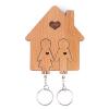 Mimi Romantikus kulcstartó ház 2 db kulcstartóval, fa