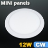 Mini kör LED panel (170 mm) 12 Watt hideg fehér