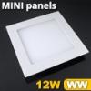Mini négyzet LED panel (170x170 mm) 12 Watt meleg fehér