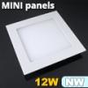 Mini négyzet LED panel (170x170 mm) 12 Watt természetes feh.